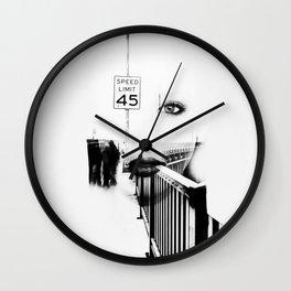 Speed Limit 45 Wall Clock