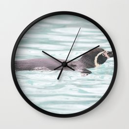 Swimming Penguin Wall Clock