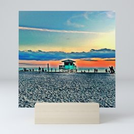 Lifeguard Shack on Siesta Key Mini Art Print
