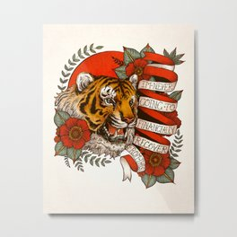 Exotic Tiger Flash Metal Print