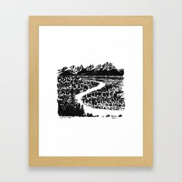 Improve the Silence Framed Art Print