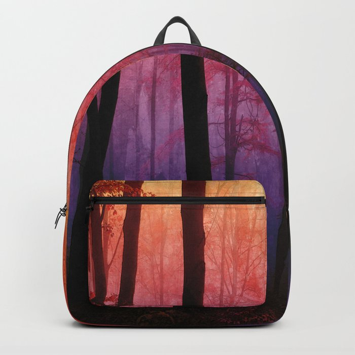 Whispering Woods, Colorful Landscape Art Backpack