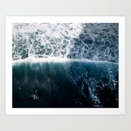Sun Wave in the Atlantic Ocean - Seascapes Art Print