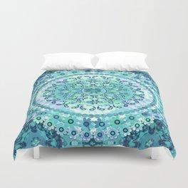 Aqua Mosaic Mandala Duvet Cover