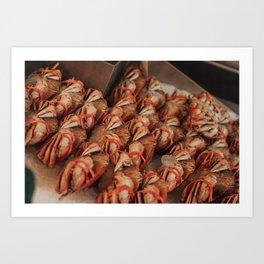 Frozen Crabs - Seattle, WA Art Print