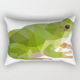 Low poly frog Rectangular Pillow