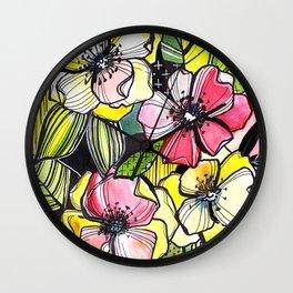 55/365 Floral Wall Clock