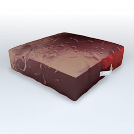 Abstract Red Rain Outdoor Floor Cushion