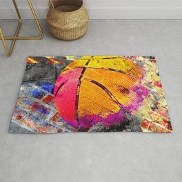 Basketball art swoosh vs 40 Rug