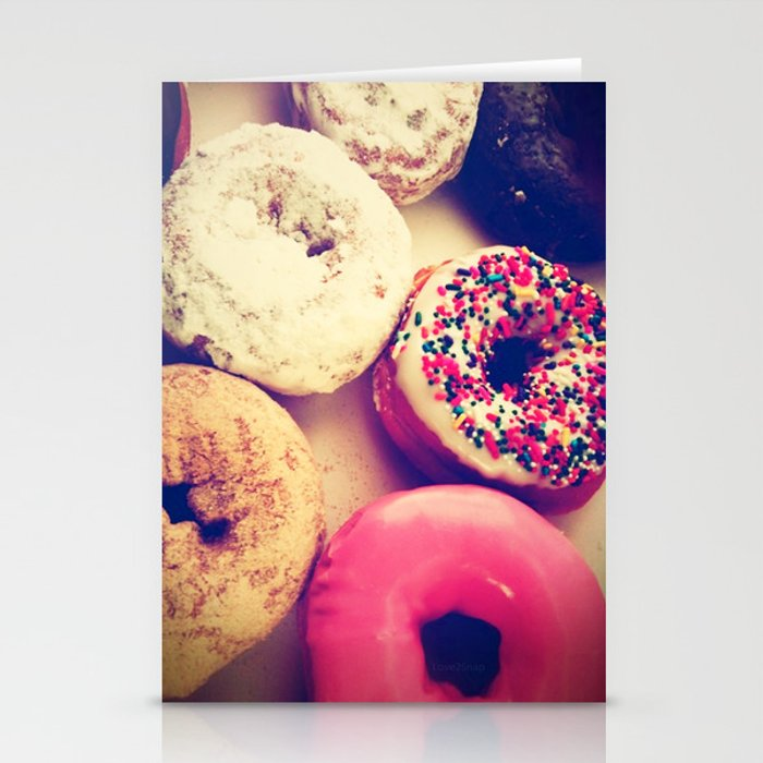 Yummy iPhone! Sweet donuts! Stationery Cards