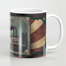 Two Steamboats on the river. Age of Steam #015 Coffee Mug