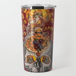 floral fires over scorpio Travel Mug