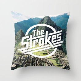 The Strokes Logo Machu Picchu Throw Pillow