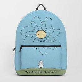 You are my sunshine - Blue Backpack