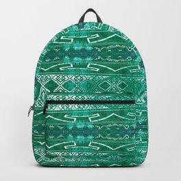 Vintage Tribal Distressed Green Backpack