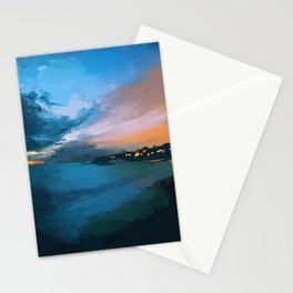 Laguna Beach At Night Stationery Cards