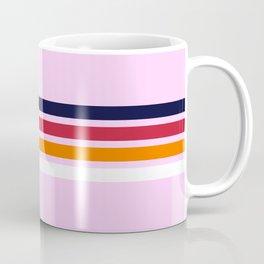 Retro Stripes on Pink Coffee Mug