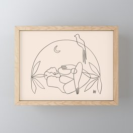 Dreamers no.2 (peach) Framed Mini Art Print