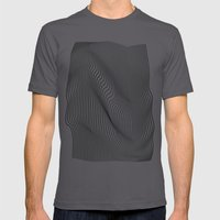 Minimal Curves MEDIUM Asphalt Mens Fitted Tee