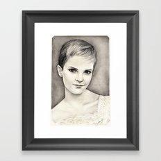 EMMA WATSON Framed Art Print