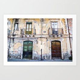 Antique Facade - Sicily Art Print