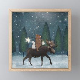the elder moose Framed Mini Art Print