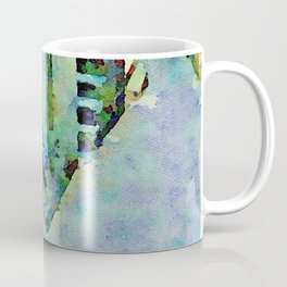 Elderly woman in the alley in the evening Coffee Mug