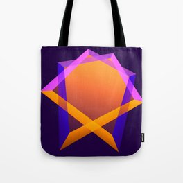 Playing with colors and transparency, geometric abstract Tote Bag