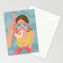 Scuba Girl Stationery Cards