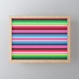 Pink Mexican Serape Blanket Stripes Framed Mini Art Print