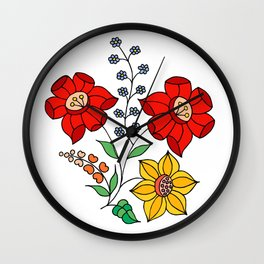 Hungarian placement print - white Wall Clock