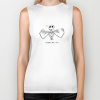 nightmare before christmas Biker Tanks featuring Nightmare Before Christmas by Future Illustrations- Artwork by Julie C
