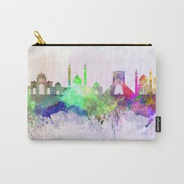 Tehran skyline in watercolor background Carry-All Pouch