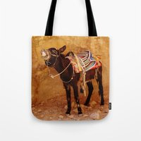 donkey Tote Bags featuring Donkey by Noelle Abbott