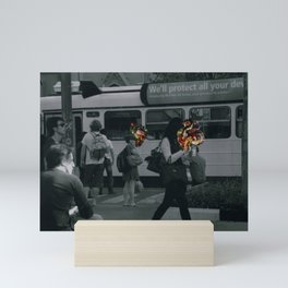 Street people collage series #3 Mini Art Print