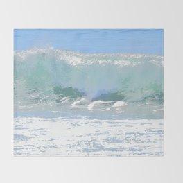 Pastel Wave Throw Blanket