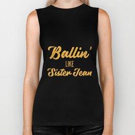 ballin like sister team yellow for shirt mens or womens sister Biker Tank