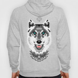 Silver Wolf Geometric Hoody