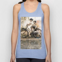 Kids on Bicycle - Reflections of Penang Unisex Tank Top