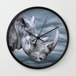 Thunder Rhino Wall Clock