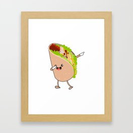 Dabbing Taco Cinco de Mayo Mexican Framed Art Print