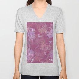 Pink Hummingbirds Unisex V-Neck