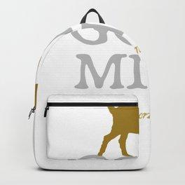 """Goat Milk: Perfection"" - dairy farmer raw goat milk t-shirt Backpack"
