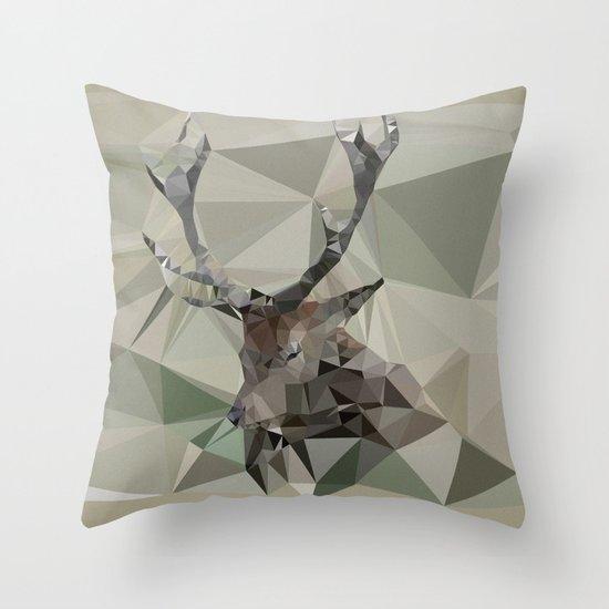 Cervus Elaphus Throw Pillow