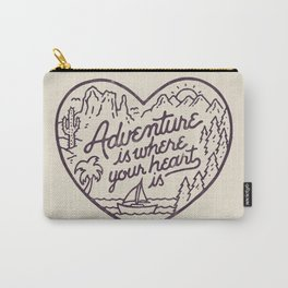 Adventure is where your heart is Carry-All Pouch
