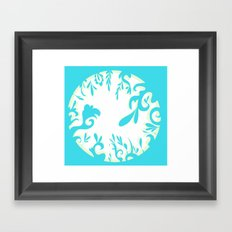 Abstractly Blue  Framed Art Print