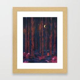 Red Cloak Framed Art Print