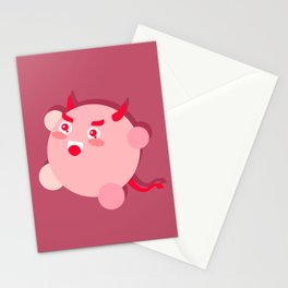 The cutest evil demon ever! Stationery Cards