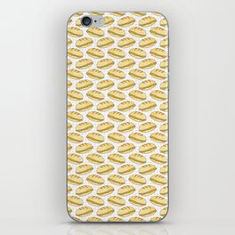 Filled Bread Baguettes Seamless Vector Pattern, Hand Drawn iPhone Skin