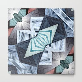 Abstract Structural Collage Metal Print